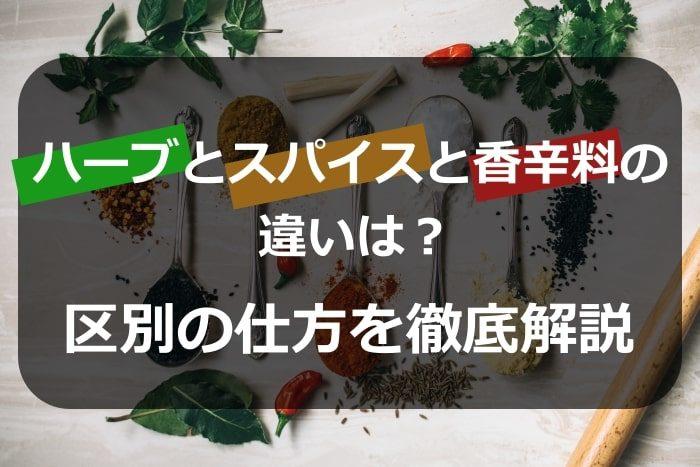 ハーブとスパイスと香辛料の違いは?区別の仕方を徹底解説